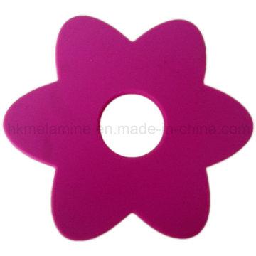 Coaster em forma de flor do silicone (RS37)