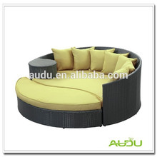 Audu Green Resin Wicker Outdoor Daybed Round