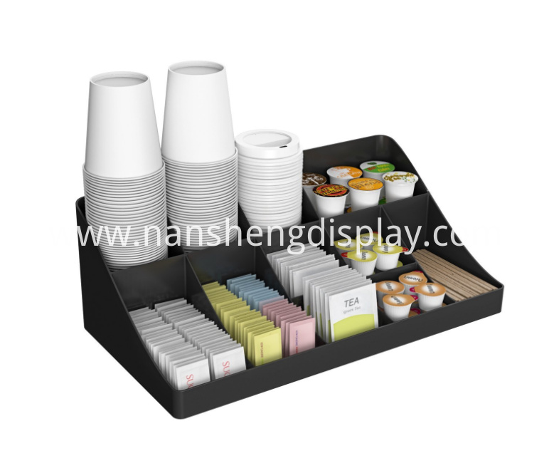 Cafe Breakroom Organizer 11 Compartment Condiment Holder
