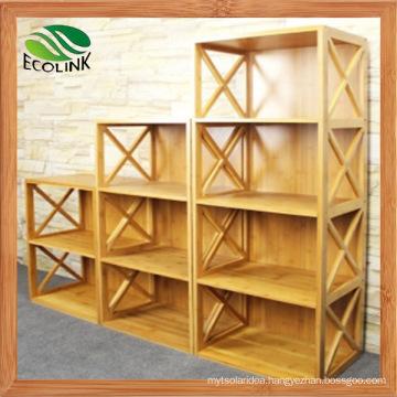 Customized Design Modern Natural Bamboo Bookshelf for Kids (EB-91356)
