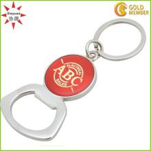 Kundenspezifischer Logo-Metallflaschenöffner mit Schlüsselringen