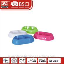 Plastic pet feeder with printing