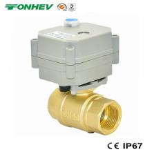 Mini 3/4 '' válvula de bola de latón motorizada (T20-B2-B)