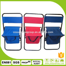 Folding fishing chair with storage bags