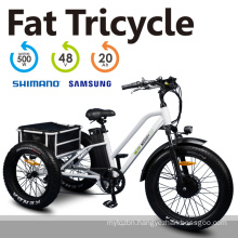 """High Quality 3 Wheel 24"""" Fat Tyre Electric Tricycle for Shopping"""
