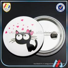 Insigne de bouton en métal à la vente chaude pour cadeaux