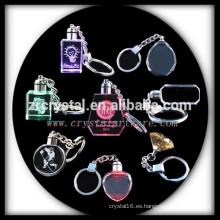 llavero de cristal blanco LED regalos del llavero de cristal