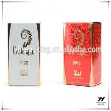 Perfume caliente 2016 del embalaje vendedor impreso caja de cartón de encargo