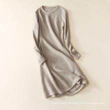 Europa-Stil von Strickpullover Kleid locker sitzende lange sperrige Pullover Jacke Wormen reine Kaschmir-Mantel