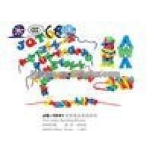 JQ1041 Hotsale Kinder kreatives Plastik Alphabet Threading Baustein Spielzeug