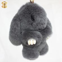 Модный шарм подвеска Подлинная Рекс кролика меха брелок