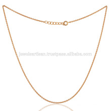 Buy The Best Fashion Gold Plated 18 Inch Chain in Brass Leverlock