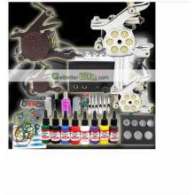 2014 professionnel haute qulity moins cher numérique paillettes kit de tatouage pour pistolet de tatouage vente chaude