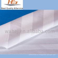 Listra 100% branca do tecido de algodão para a matéria têxtil home
