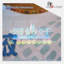Transparent holographic lamination film for security packaging