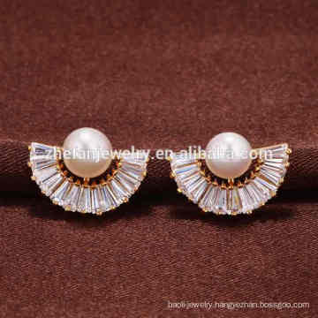 Guangzhou simple gold earring designs for women
