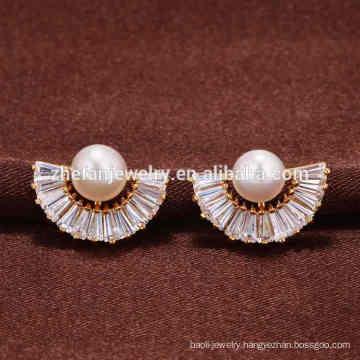 Guangzhou simple gold earring designs for women