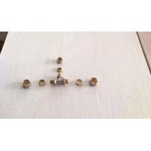 T de redução de latão niquelado que reduz o encaixe do tubo de compressão do encaixe de compressão do tee