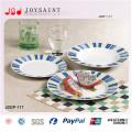 18PCS Decal Porcelain Square Shape Food Plate Usage pour Home Hotel