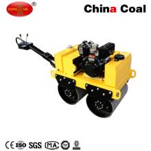 L'essence de Zm-50 540kg marchent derrière le rouleau vibrant de route de double tambour