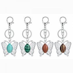 Butterfly Crystal Keychains For Women Girls Cute Animal Fashion Keyring