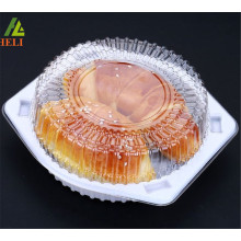 Top sale food grade PET material 6 inches plastic round cake box