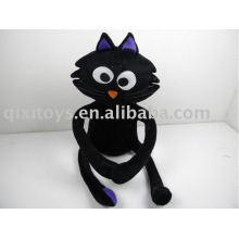 gatinho de pelúcia gato preto de halloween