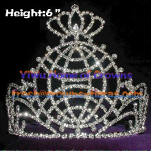 Peace Earth Crystal Rhinestone Crowns