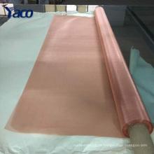 Rede de arame de cobre vermelha da tela do filtro industrial do baixo preço para a destilação do álcool