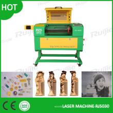 Mini machine de gravure laser pour acrylique, plastique, contreplaqué, tissu, papier, granit-Rj5030