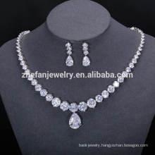 Nigeria beads designs necklace jewelry display set modern white