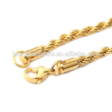 Fashion High Quality Metal 18k Gold Rope Chain Necklace