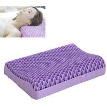 hexagon hole wave design TPE purple neck pillow