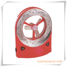 Rechargeable Fan with LED Light for Promotion