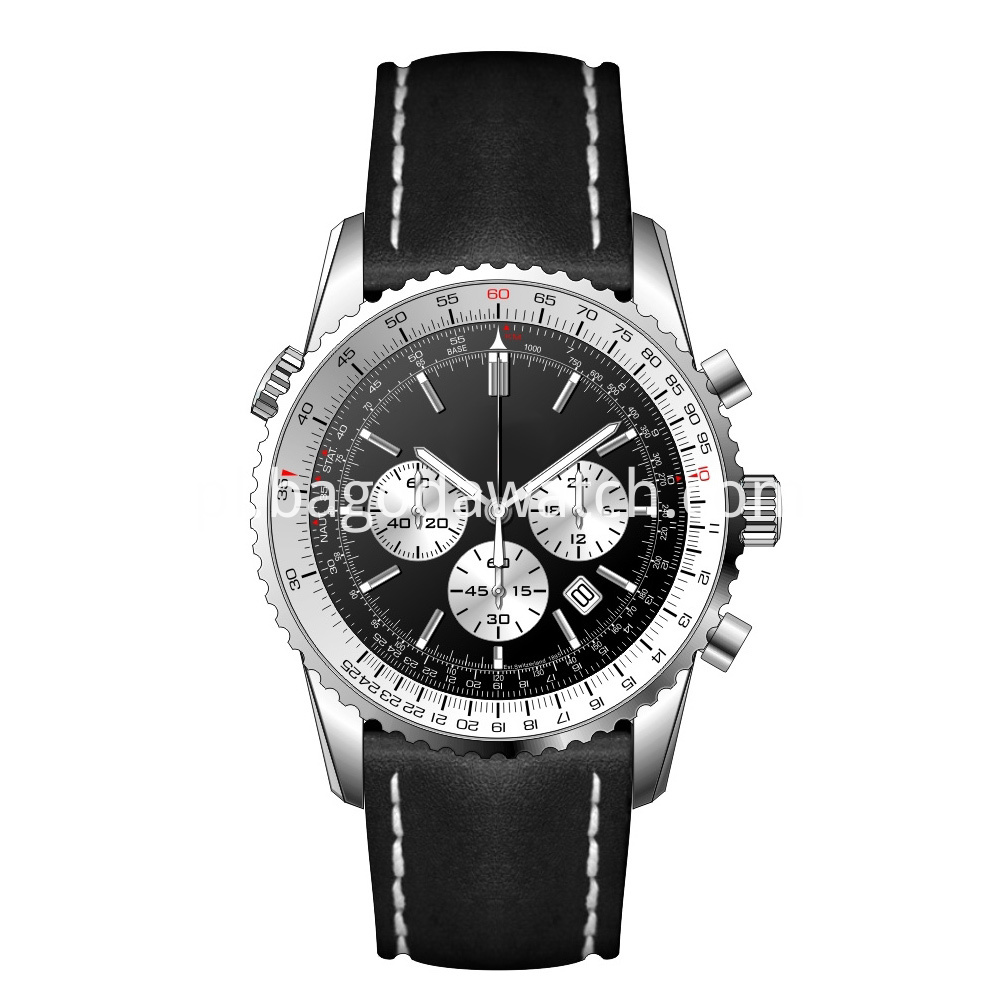 Silver Black Men Watches