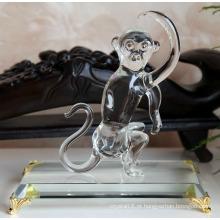 Macaco de animal chinês de cristal do zodíaco