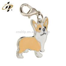 Diseño libre de su logotipo personalizado de alta calidad de impresión perrito animal lindo Huskies etiqueta de perro de acero inoxidable