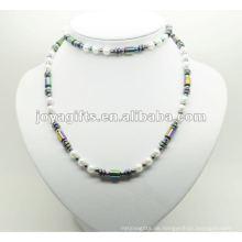 Mode Hämatit Wrap mit Regenbogen Perlen