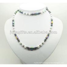 Fashion Hematite Wrap With Rainbow Beads