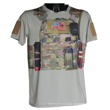 Wolf Slaves Outdoor Sports Tactical Military Combat Python Camo T-Shirt