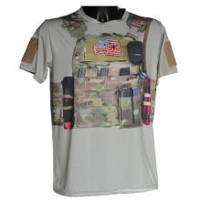 Lobo escravos esportes ao ar livre tático militar de combate t-shirt do Python Camo