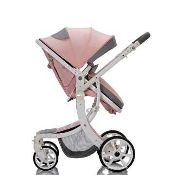Poussette de bébé bon marché de cadre d'alliage d'aluminium 3 en 1 poussette de paysage élevée de luxe se pliante