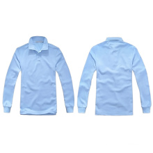 Neuestes Art- und Weisequalitäts-Massen-lange Hülsen-unbelegte Polo-Hemden