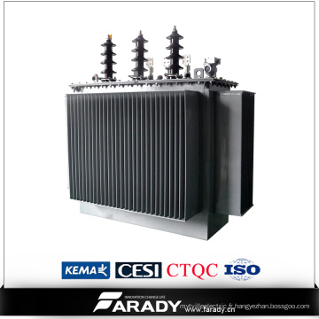Transformateur de distribution de puissance de 3 phases 11kv 500kVA