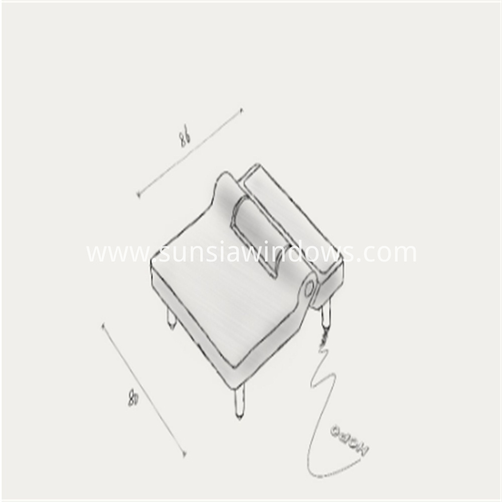 Folding Hinge, Sliding Folding Hinge,Sliding Folding Door Hinge SKETCH