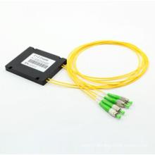 Acoplador de PLC Fiber Optic de 2 * 2 com cassete ABS