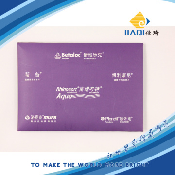Microfiber cleaning cloth with paper box packing