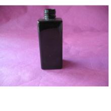 6oz schwarze quadratische Haustier-Flasche ohne Kappe