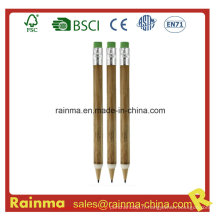 Crayon mécanique en bois avec bouchon Eraser