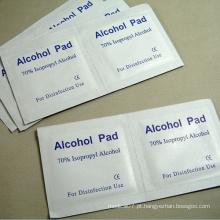 Almofada de limpeza de álcool com álcool isopropílico a 70%